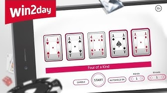 Video Poker auf win2day – Tutorial