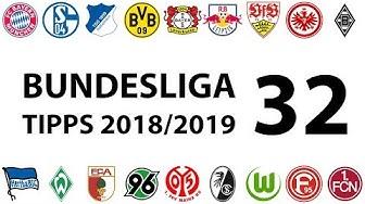 Bundesligatipps 32.Spieltag 2018/2019