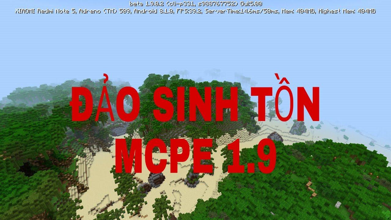 Map sinh tồn MCPE:1.9(link phần mô tả)