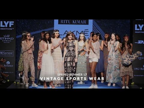 Label Ritu Kumar presents Vintage Sportswear Spring Summer'17 at Lakme Fashion Week