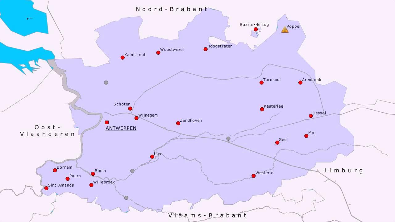 Topografie Provincie Antwerpen Youtube