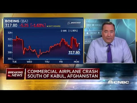 Conflicting plane crash reports in Afghanistan weigh on shares of Boeing