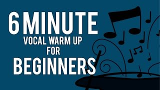6 Minute Vocal Warm Up for Beginners - Free Voice Lessons with Cherish Tuttle