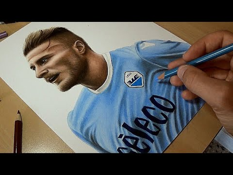 Disegno Ciro Immobile Speed Drawing Youtube