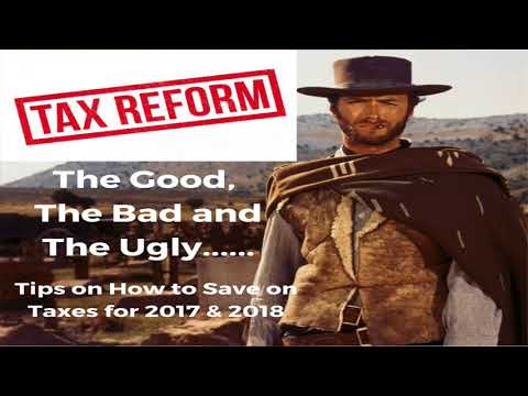 Tax Cuts and Job Act - Congress: My Best Tax Reform Tips Training Ever!