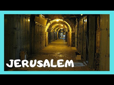 JERUSALEM, what the OLD CITY looks like AT NIGHT (ISRAEL)