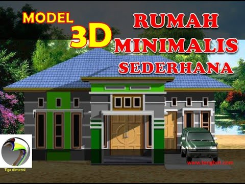 Model 3d Rumah Minimalis Sederhana By 7119dtk Tengbot Inventor Youtube