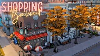 Шопинг бульвар│Строительство│Shopping Boulevard│SpeedBuild [The Sims 4]