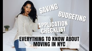 Everything To Know About Moving in NYC | SAVING, BUDGET, APPLICATION + more
