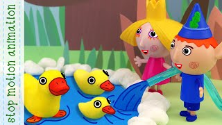 Ben and Holly's Dry Lake | elf and fairy's adventures stop motion animation english version 2019