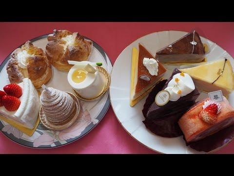 ケーキ食べ放題自宅編アンリ・シャルパンティエ池袋店何個食べれるかたくさん買って挑戦したもうお腹いっぱいだよ~東京・池袋