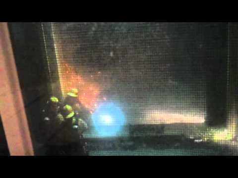 Firefighters in action in Santa Monica 3