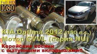 KIA Optima 2012 (мотор CVVL серии NU) - косяки шатунных вкладышей