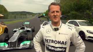 Michael Schuhmacher im Mercedes Silberpfeil auf der Nordschleife - AMG Performance Drive