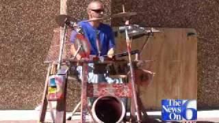Tulsa Street Drummer Amazes On Home-Made Drums