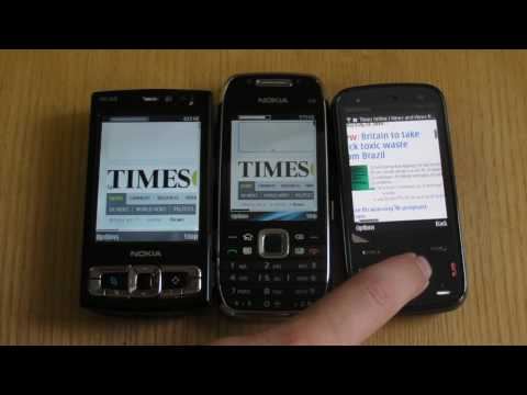 Nokia N86 (and N97) vs E75 vs N95 8GB Browser speed test