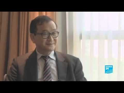 Sam Rainsy Interview about his present in Khmer Election 2013 (English)