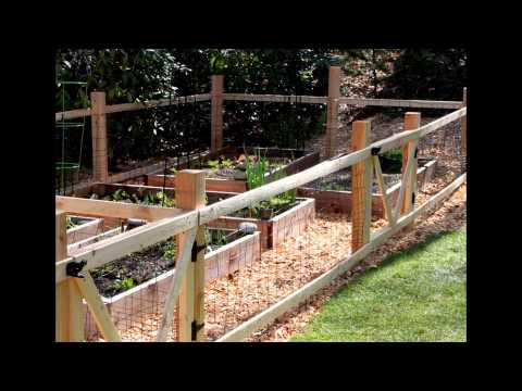 How to Build a Garden Fence 2015 YouTube