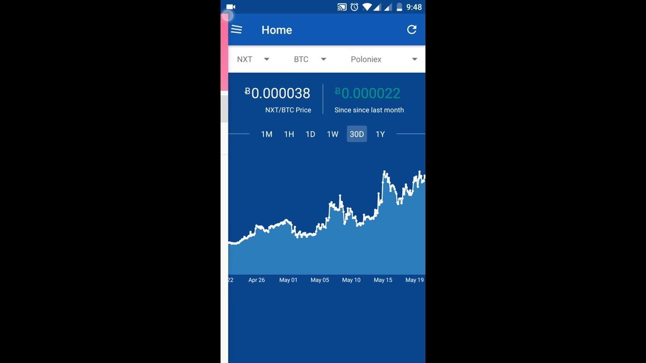 Bitcoin price tracker app - ACrypto - YouTube