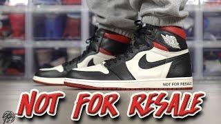 """Air Jordan 1 Retro High OG NRG """"NOT FOR RESALE"""" Review!"""