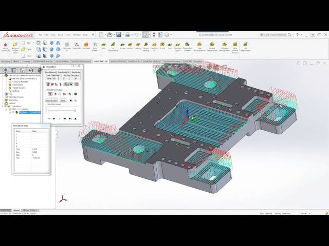 SolidCAM 2016 - Pocket Recognition Lower Level