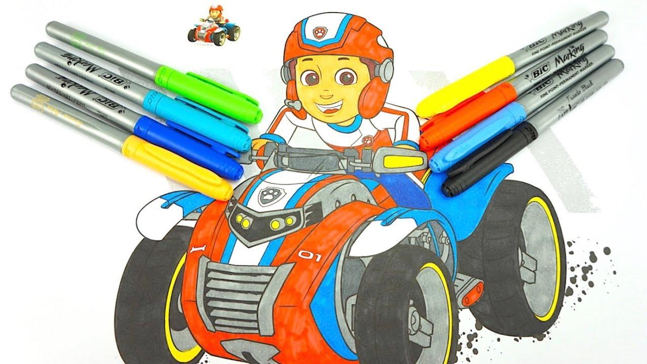Щенячий патруль большая раскраска для детей - YouTube