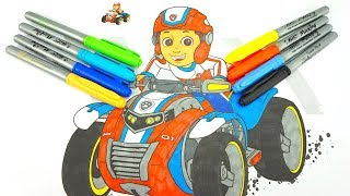 Щенячий патруль большая раскраска для детей