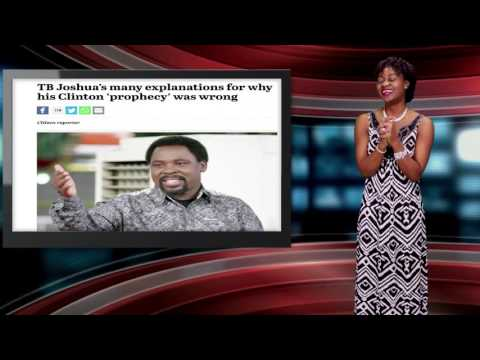 TB Joshua Explains Failed Prophecy About US Election