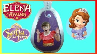 Disney Princess Sofia The First rescues Elena of Avalor from GIANT Amulet | The Disney Toy Collector