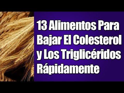 13 alimentos para bajar el colesterol y los trigliceridos rapidamente youtube - Alimentos que provocan colesterol ...