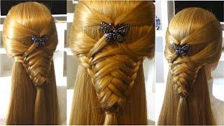 Прическа в школу с плетением на средние и длинные волосы