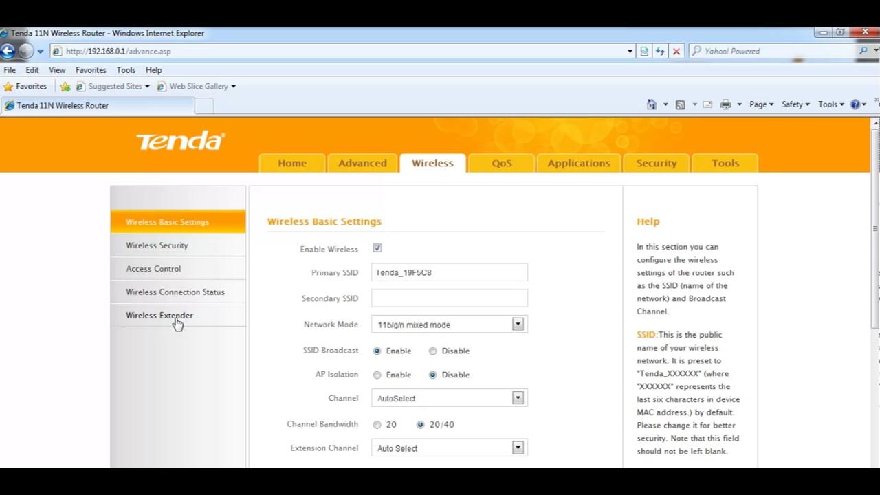How To Configure Tenda Router In Repeater Mode With Jiofi Youtube A6 N150 Mini Ap Putih