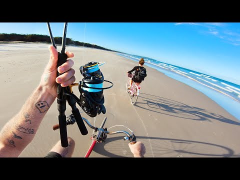 Bicycle Beach Fishing