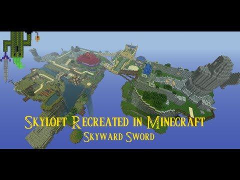 Skyloft Recreated In Minecraft LoZ Skyward Sword YouTube