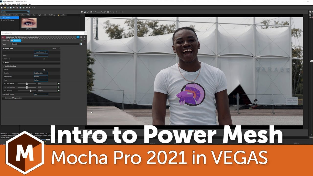 Mocha Pro 2021: How to track Warped Surfaces in Vegas Pro.