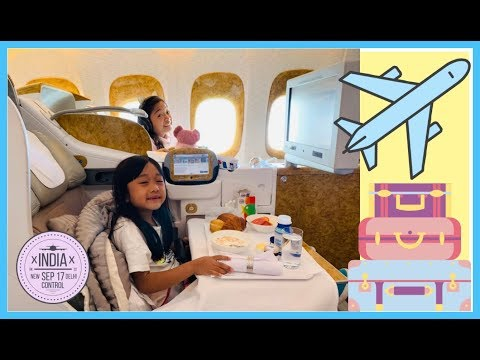 Kaycee & Rachel's first Business Class Airplane Ride