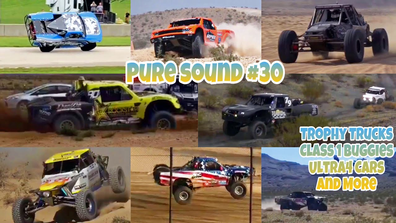 PURE SOUND #30 | Desert Racing Compilation (Trophy Trucks, Ultra4 Cars and More!)