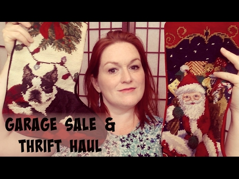 Live Garage Sale & Thrift Store Haul - Turning $40 into $???? - Garage Sale Thrift Haul