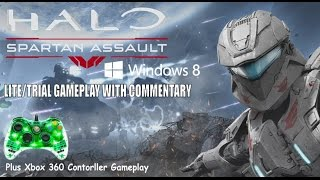 Halo Spartan Assault (Lite/Trial) Gameplay On Windows 8 With Xbox 360 Contorller And Commentary