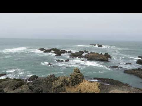 The Pacific Ocean from Pigeon Point Light Station State Historic Park