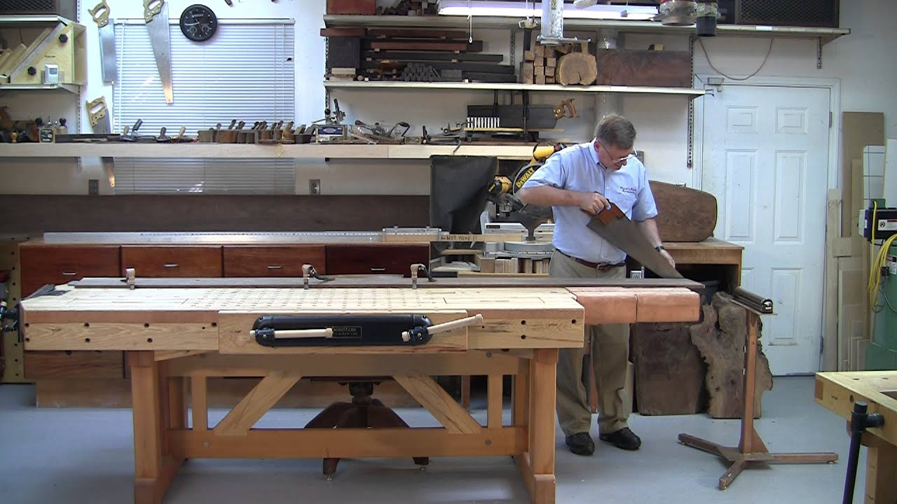 Foster Workbench Holding A 10 Foot Long Boards With Bench