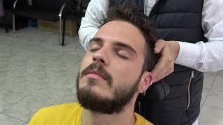 ASMR Turkish Barber Face,Head and Body Massage 179