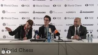 Press conference with the winner of Candidates 2018 Fabiano Caruana
