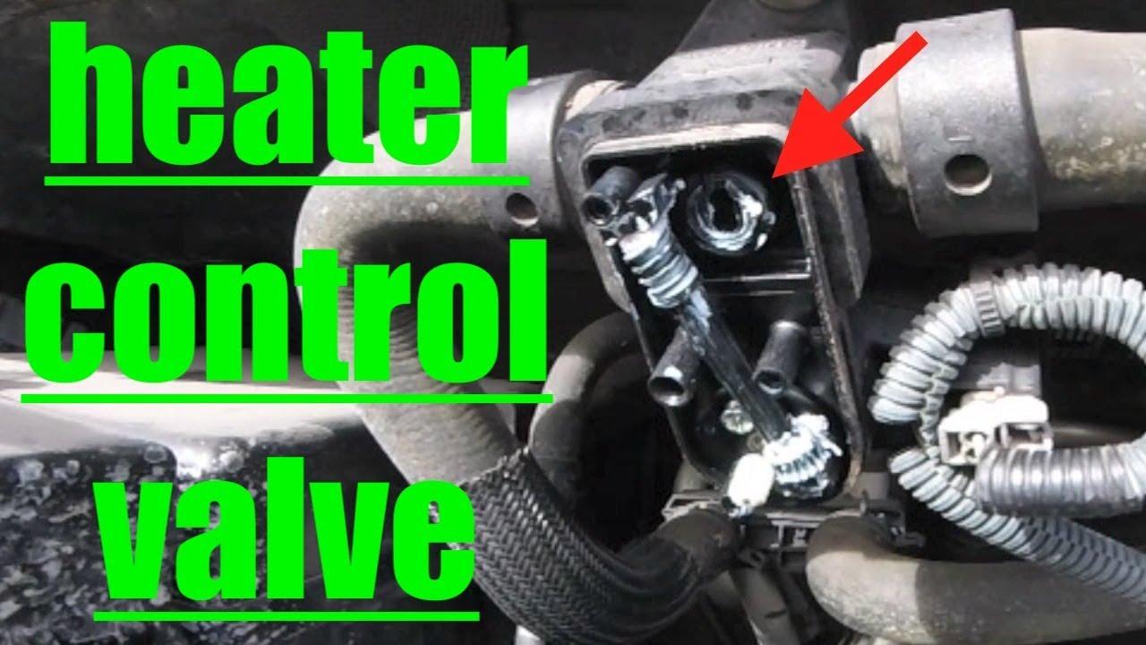 QUICK FIX NO HEAT Diagnose Heater Control Valve Nissan Armada √ Fix It Angel  YouTube