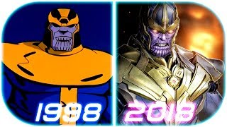 EVOLUTION of THANOS in Cartoons (1998-2018) Thanos deleted Scene clip 2018 Avengers 4 infinity war 2