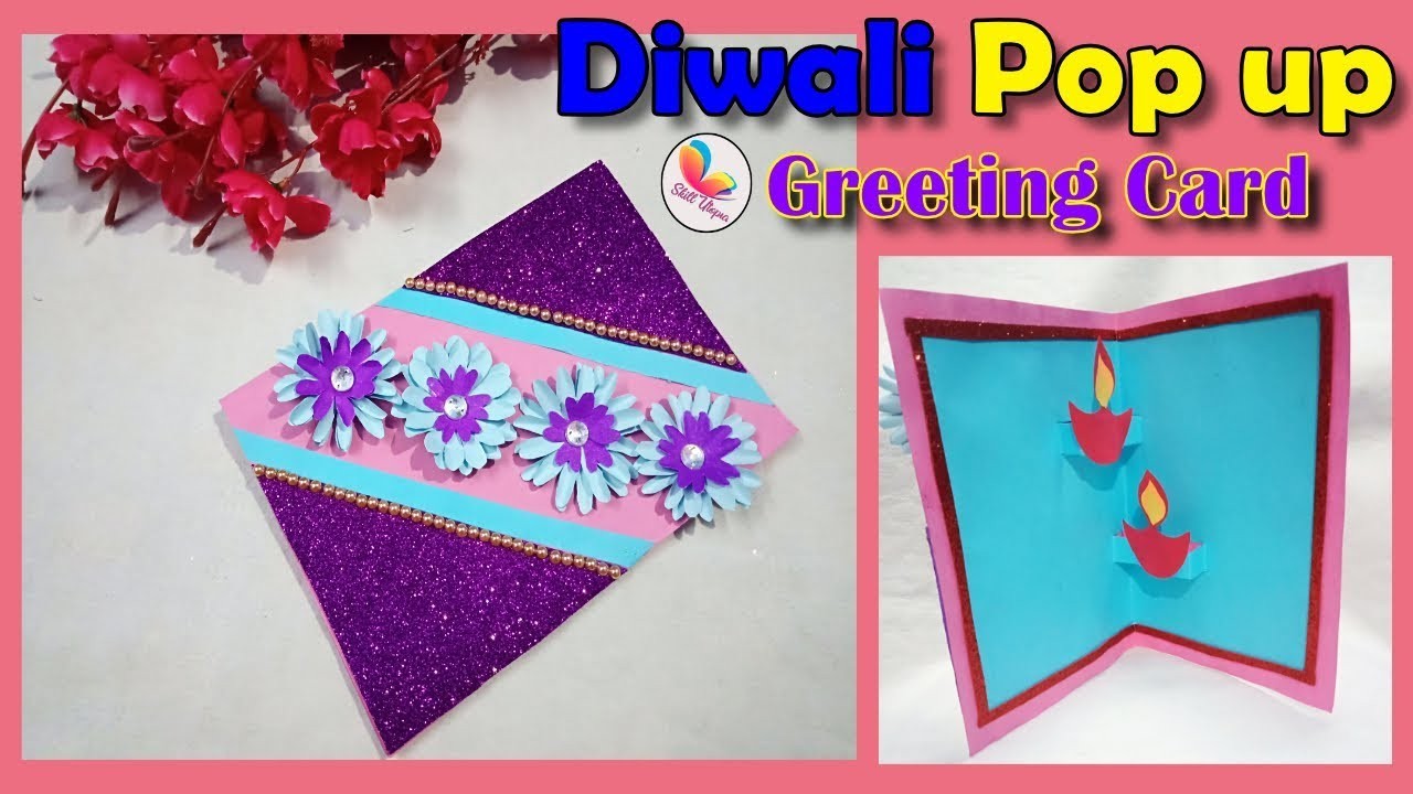 DIY, Greeting card for diwali/ Birthday/Greeting Card Making Ideas