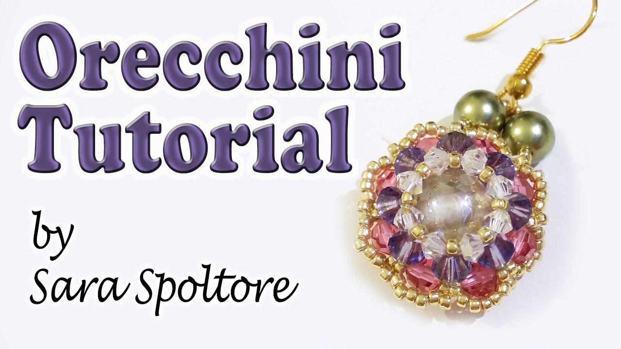 Tutorial orecchini con perline e cristalli swarovski for Orecchini con pietre dure fai da te