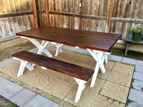 DIY Outdoor Patio Table Inexpensive!