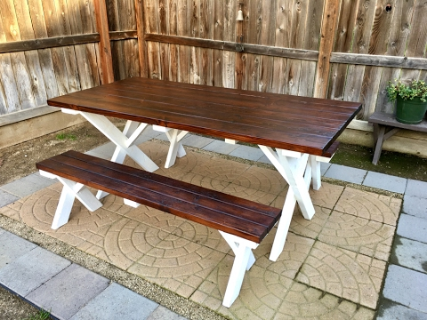 Diy outdoor patio table inexpensive youtube diy outdoor patio table inexpensive watchthetrailerfo