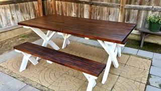 Diy Outdoor Patio Table Inexpensive